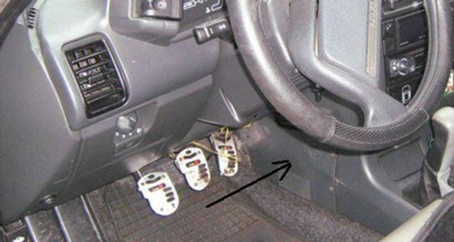 Расположение блока реле в машине