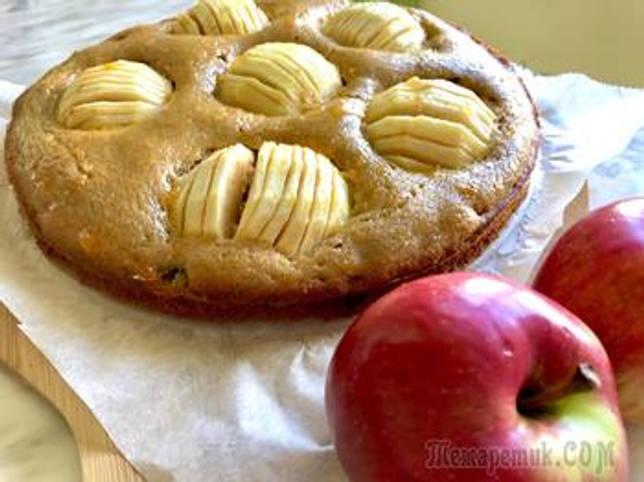 Гречневый пирог с яблоками