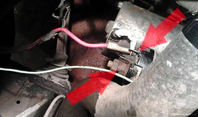 дополнительный провод массы на двигатель