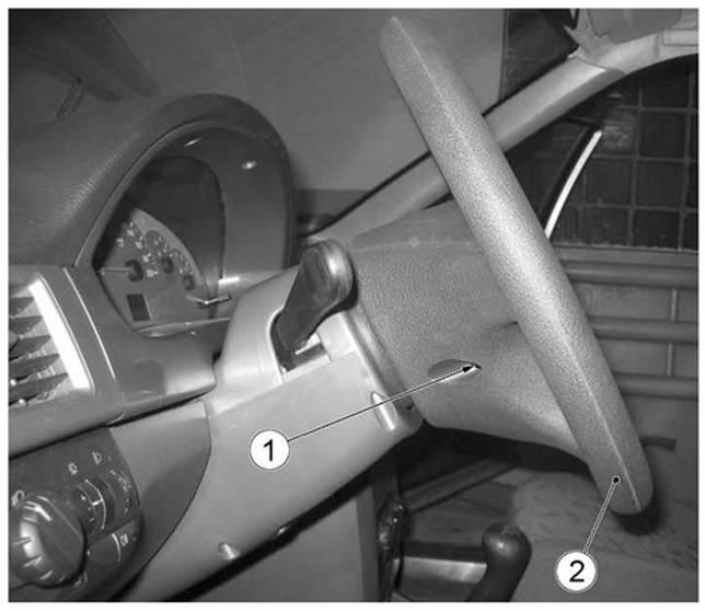 Расположение винтов крепления подушки безопасности