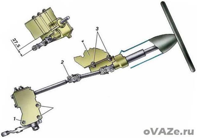 Снятие и установка рулевого механизма ВАЗ 2107
